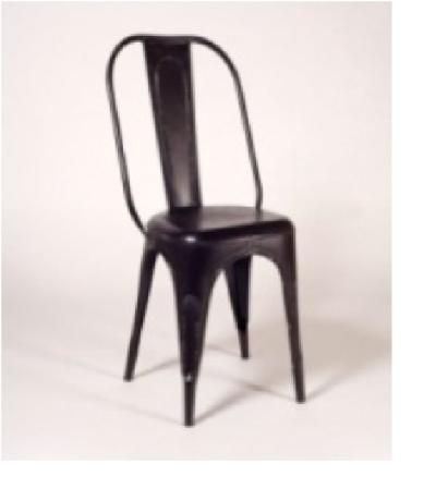 Silla para salon comedor o silla vintage envejecida de hierro