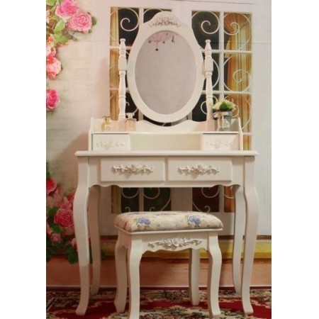 Tocador tocador con espejo mesa de maquillaje for Sillas para tocador